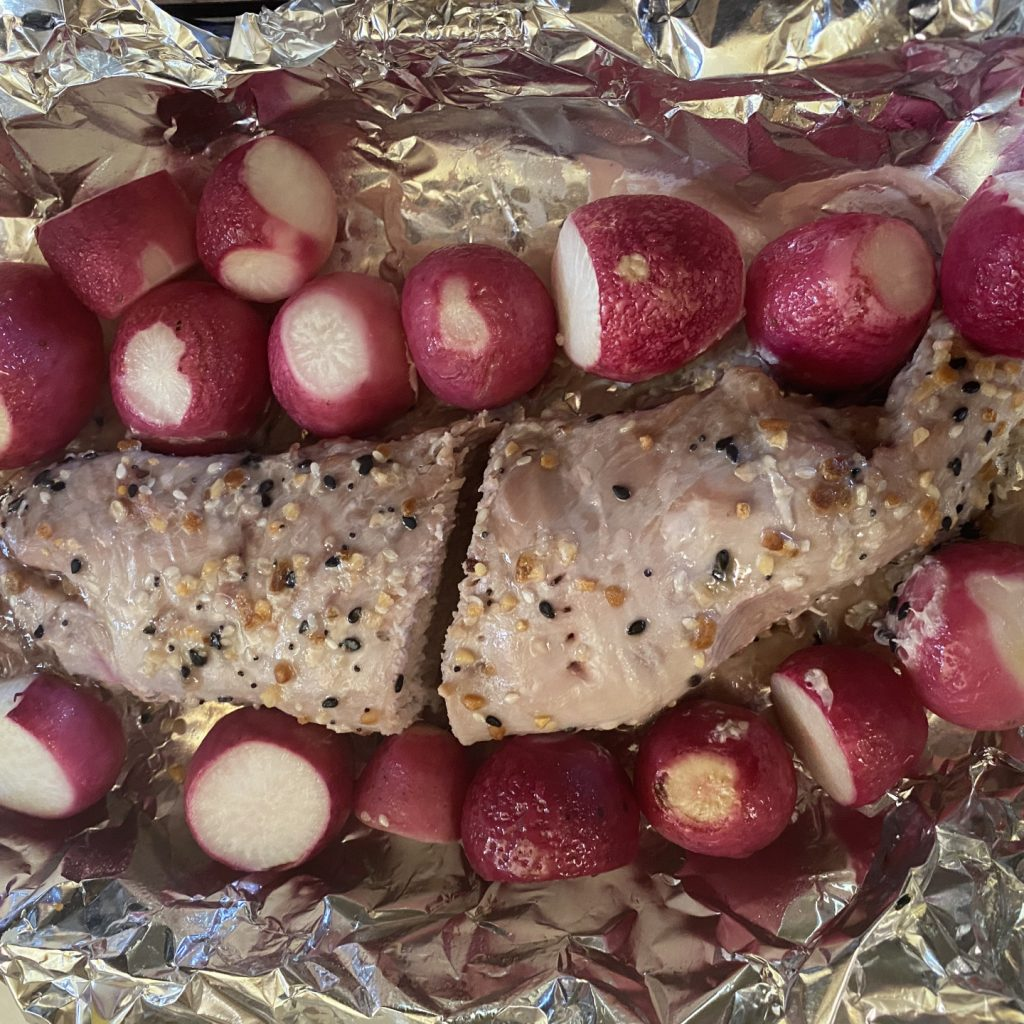 Roast Pork Tenderloin w/Roasted Radishes