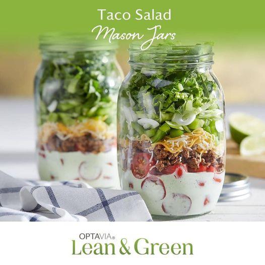 Taco Salad in a Mason Jar